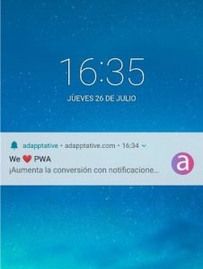 Notificaciones adapptative